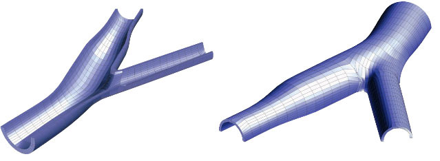 finite element mesh of an artery