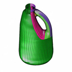 shell mesh of Clorox bottle