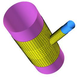 Mesh Projected to Pipe Surfaces